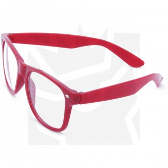 Brýle Wayfarer - červené obroučky