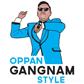 Tričko Gangnam style-modré