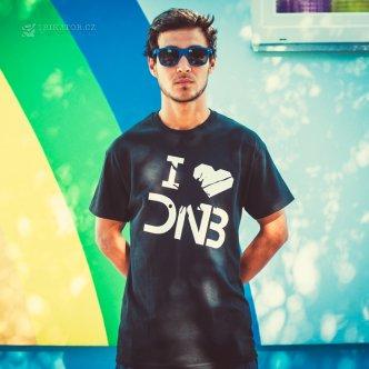 Tričko s potiskem I love DNB