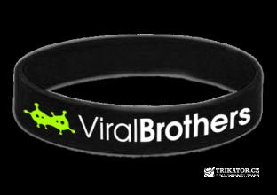 Silikonový náramek ViralBrothers - černý
