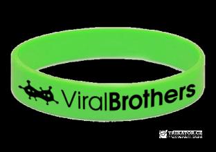 Silikonový náramek ViralBrothers - zelený